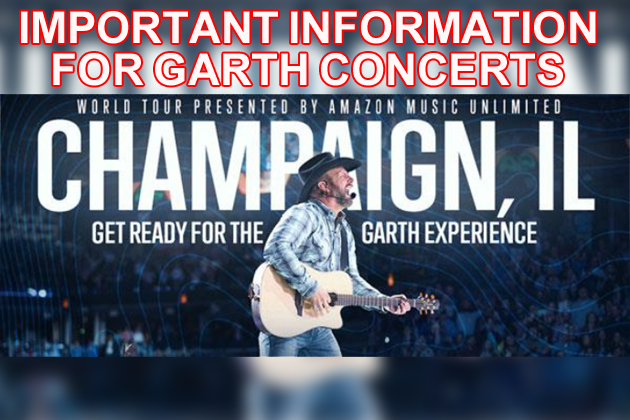 "State Farm Center Releases ""Patron Information"" for Garth Brooks Concerts"