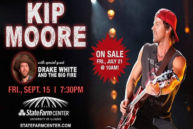 B104 Welcomes Kip Moore To State Farm Center September 15th