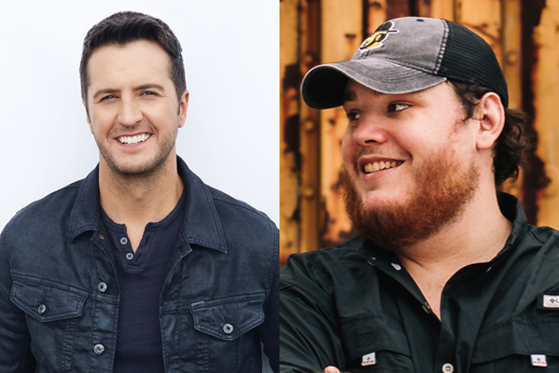 How does luke bryan feel about the new luke in country music b104 l r luke bryan and luke combs m4hsunfo