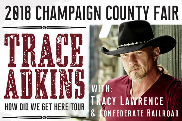 B104 Welcomes Trace Adkins to 2018 Champaign County Fair