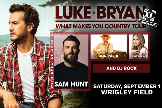 Win Tickets to see Luke Bryan and Sam Hunt at Wrigley Field
