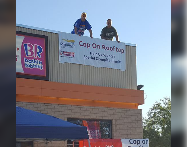 "2018 Bloomington Police ""Cop On Top"" for Special Olympics"