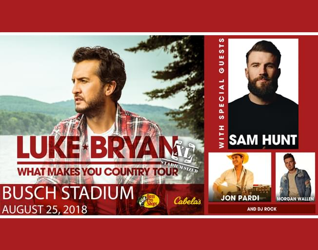 Win Tickets To Luke Bryan And Sam Hunt In St. Louis