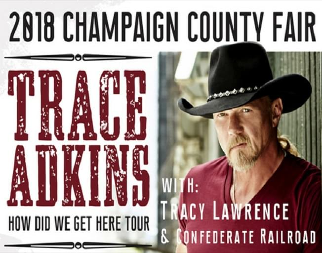 Win Tickets To Trace Adkins At The Champaign County Fair With Faith & Hunter