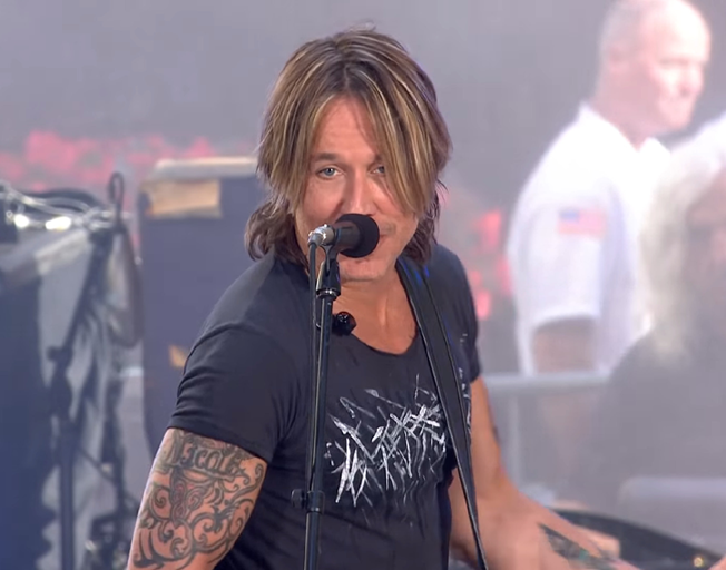 Keith Urban performing on the 'Today Show'