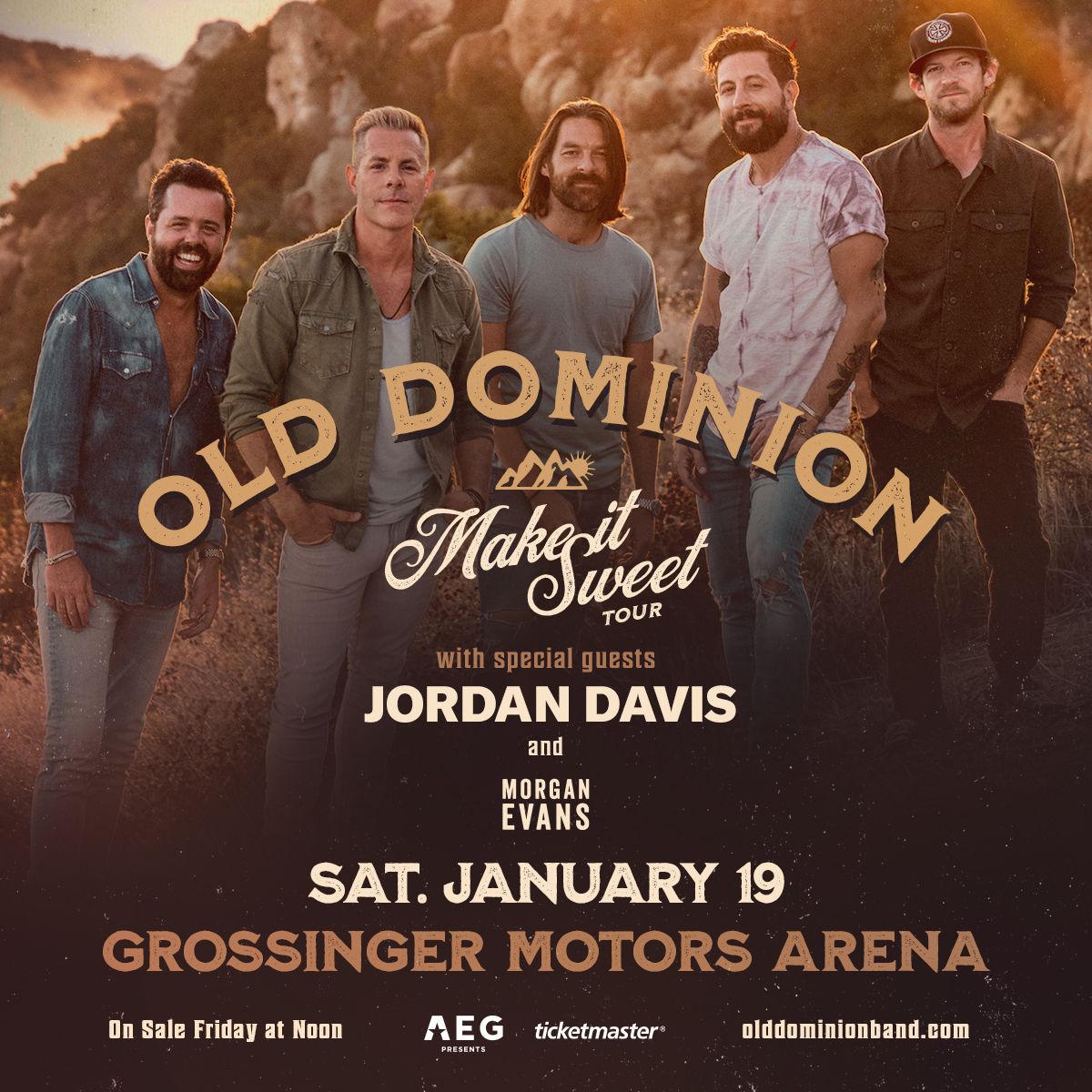 B104 Welcomes Old Dominion To Grossinger Motors Arena | B104