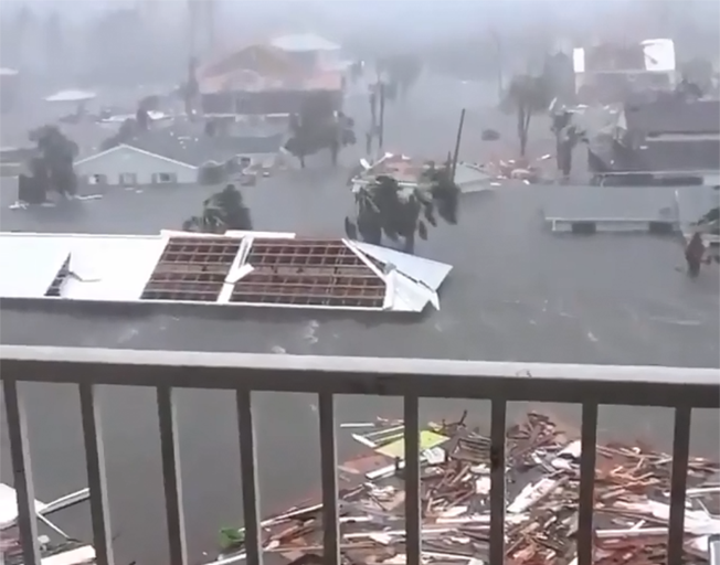 Flooding & devastation caused by Hurricane Michael