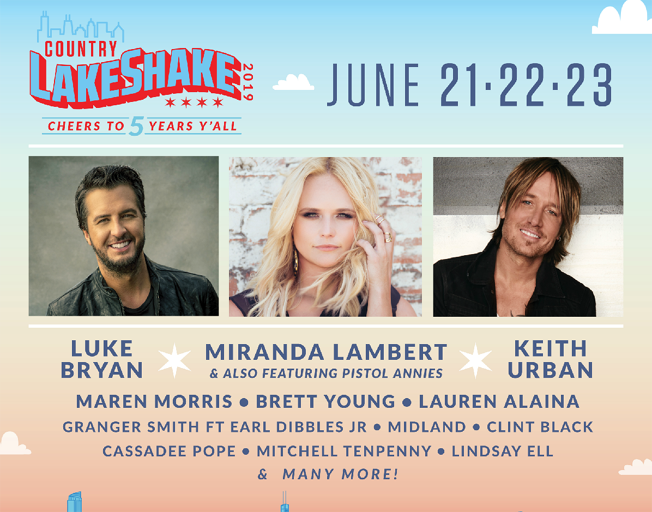Win Tickets To The Country LakeShake Festival With The B104 Text Club