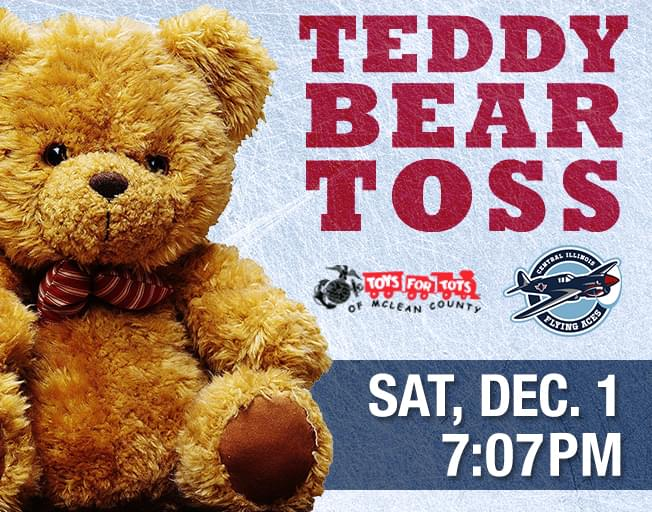 2018 Toys For Tots Teddy Bear Toss