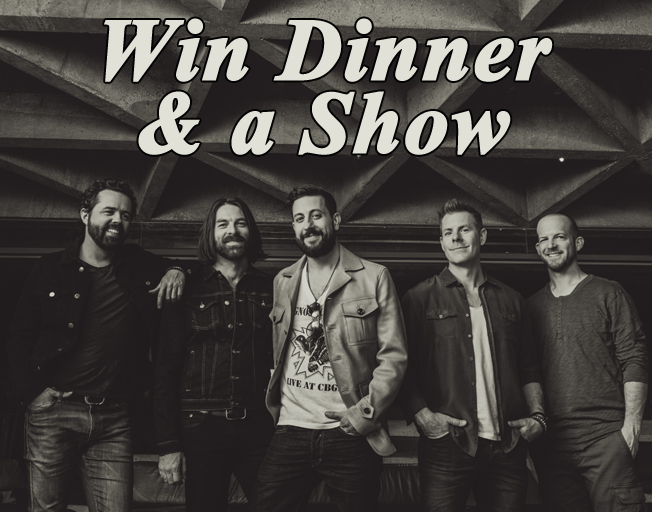 Win Dinner and a Show with Old Dominion tickets & $50 Kobe Hibachi gift certificate