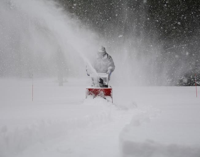 How much snow will we get in the Bloomington-Normal area?