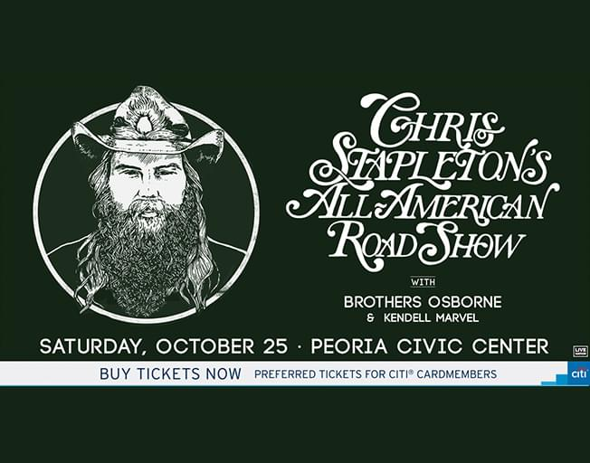 "Chris Stapleton ""All American Road Show Tour"" at Peoria Civic Center Saturday, October 25, 2019"