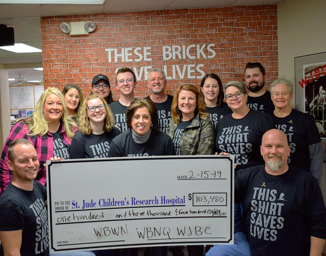 THANK YOU for Helping Raise $103,480 for St. Jude with B104!