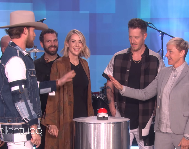 "FGL's Tyler Hubbard Baby Gender Reveal on ""Ellen"" [VIDEO]"