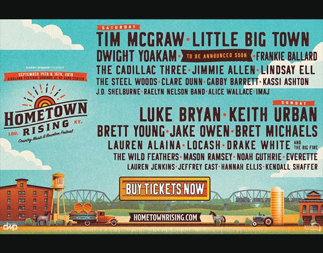 Win Tickets To Hometown Rising Festival Featuring Luke Bryan, Keith Urban and More