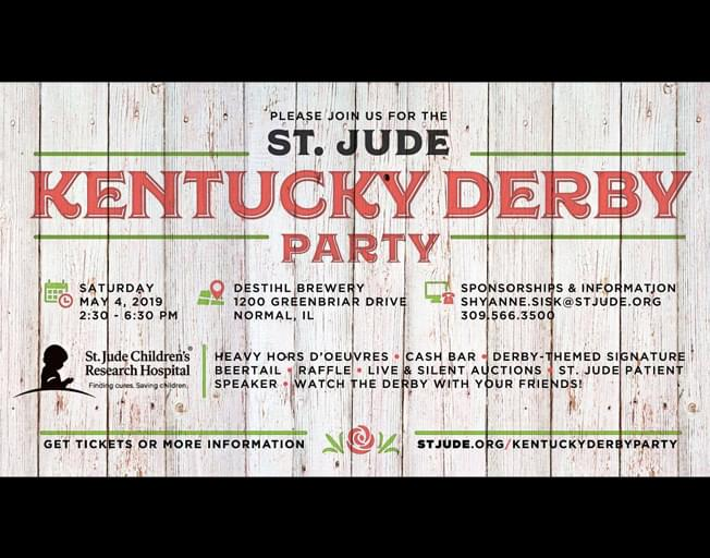Join B104 At St. Jude's Kentucky Derby Party