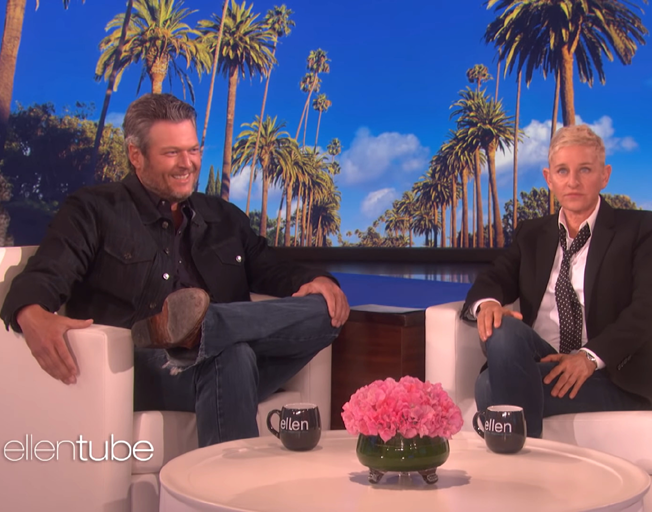 Watch Blake Shelton have Fun and Get Scared on Ellen Show [VIDEOS]