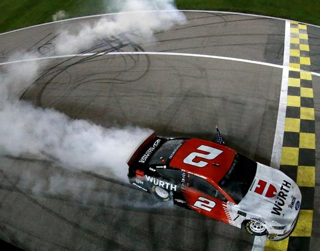 Keselowski Grabs NASCAR Win at Kansas [VIDEO]