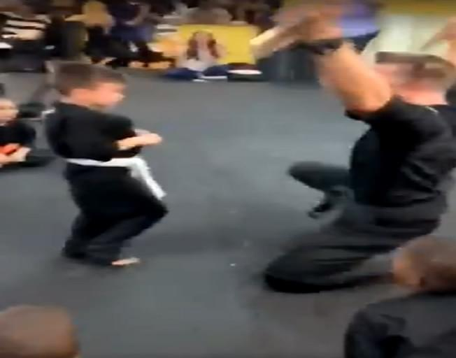 Viral Video Shows Young Boy Persevering In Martial Arts Class