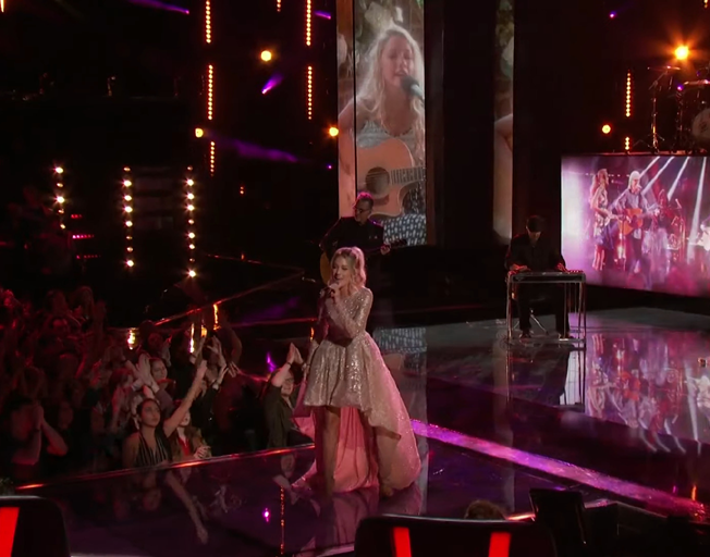 Emily Ann Roberts performing on 'The Voice'