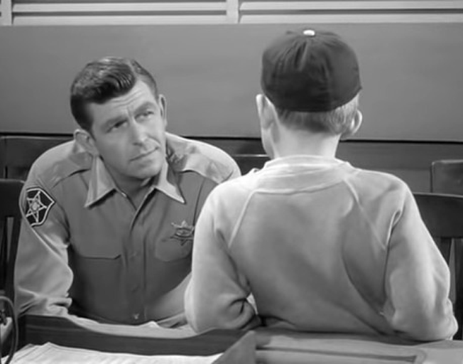 """Andy Taylor"" and ""Opie Taylor"" on 'The Andy Griffith Show'"