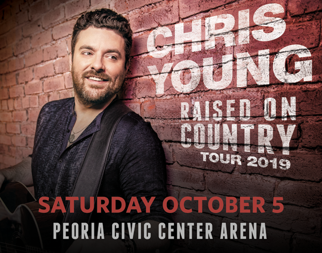 """Win Tickets to Chris Young """"Raised On Country Tour"""" in Peoria"""
