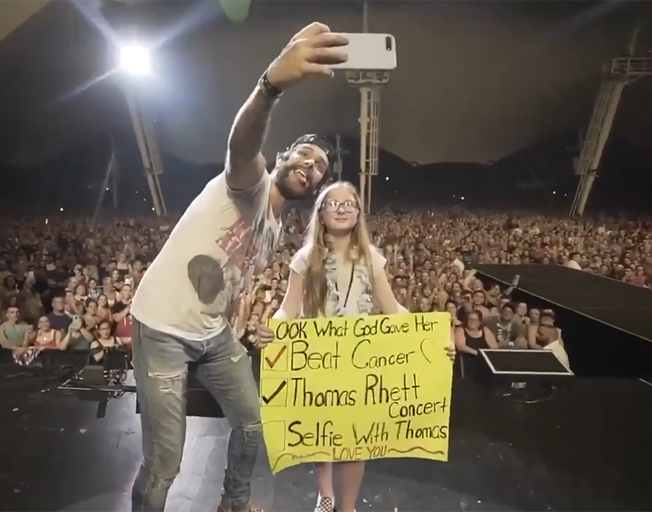 Thomas Rhett makes 11-Year-Old Cancer Survivor Dream Come True [VIDEO]