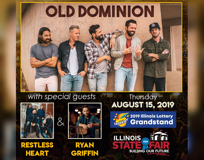 Win Tickets To Old Dominion At The Illinois State Fair With Faith & Hunter
