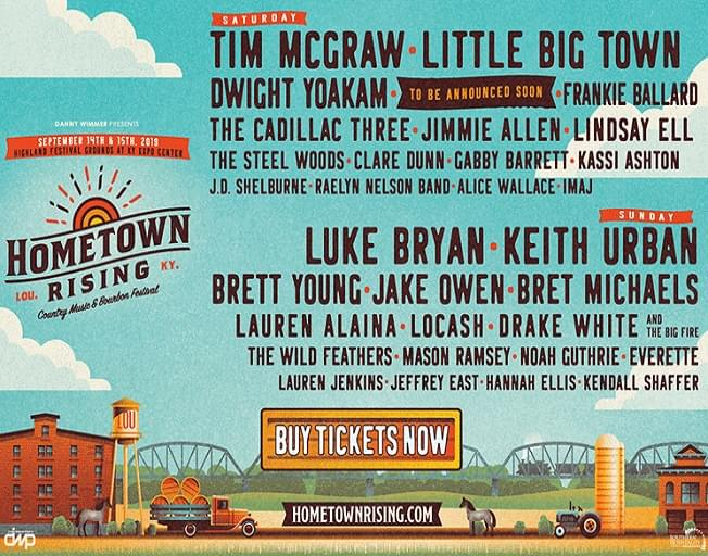 Win Tickets To The Hometown Rising Country Music And Bourbon Festival