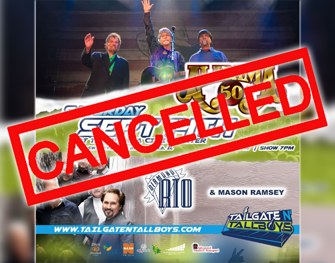 Tailgate N' Tallboys Alabama Concert Cancelled