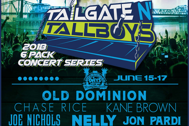 18 More Artists Added to 2018 Tailgate 'N Tallboys Concert Series