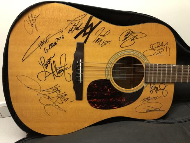 Gretsch guitar signed by country music stars