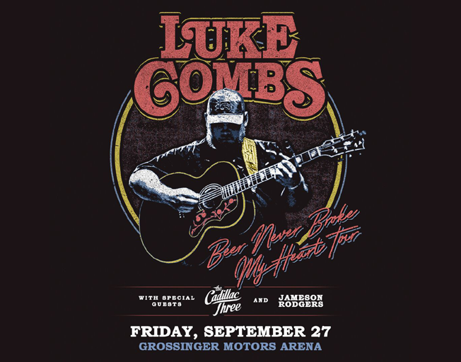 "Luke Combs ""Beer Never Broke My Heart Tour"" at Grossinger Motors Arena Friday, September 27, 2019"