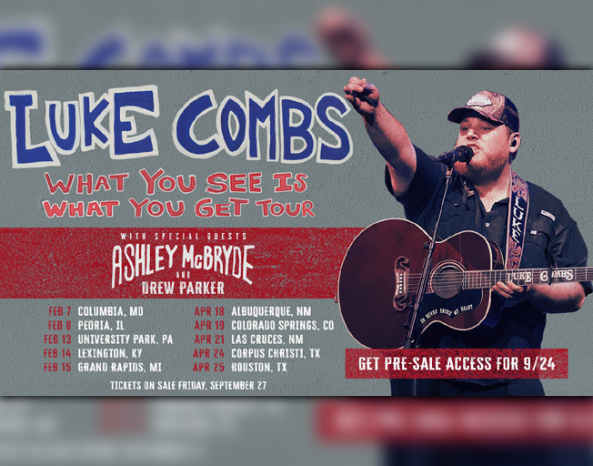93.7 NASH Icon Welcomes Luke Combs to Peoria in 2020