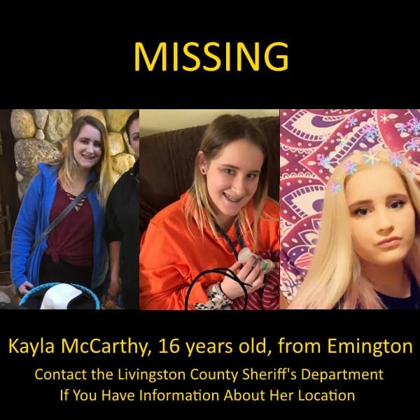 Search Continues for Livingston County Teen