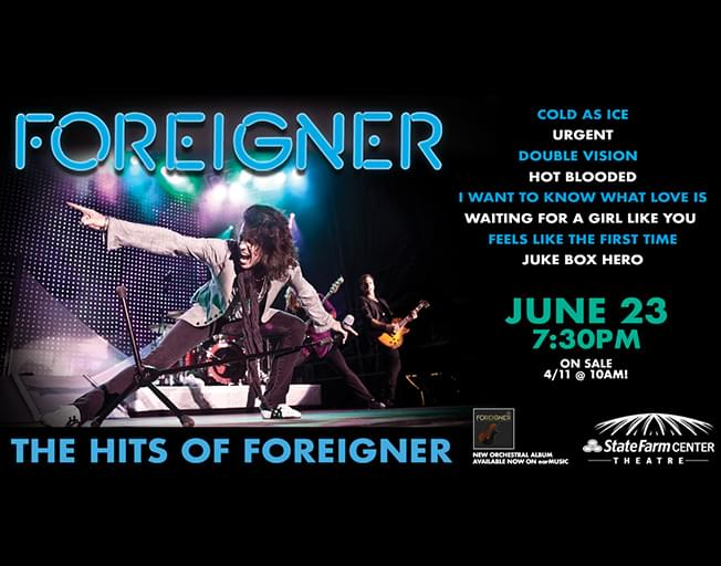 Win Foreigner Tickets With Meet & Greet This Week on WJEZ VIP
