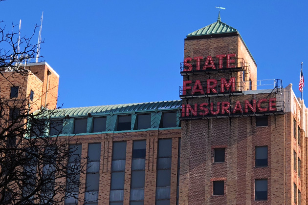 State Farm to remove signage from downtown Bloomington building