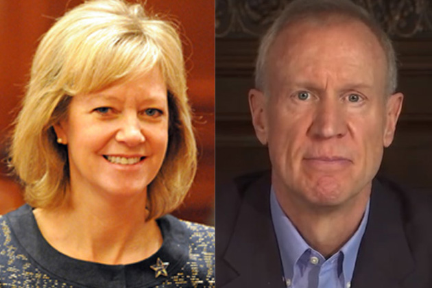 Jeanne Ives and Bruce Rauner