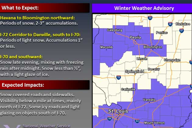 nws issues new winter weather advisory for central. Black Bedroom Furniture Sets. Home Design Ideas