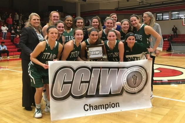 Titan women, men clinch share of CCIW titles with wins at Carthage