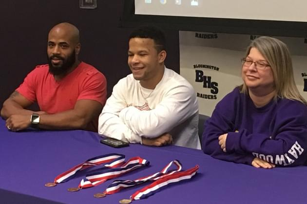 Bloomington's Haywood honored for state wrestling title