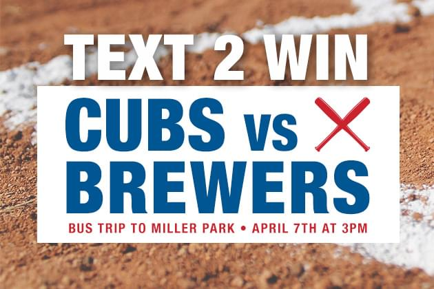 Cubs Bus Trip Text To Win Weekend