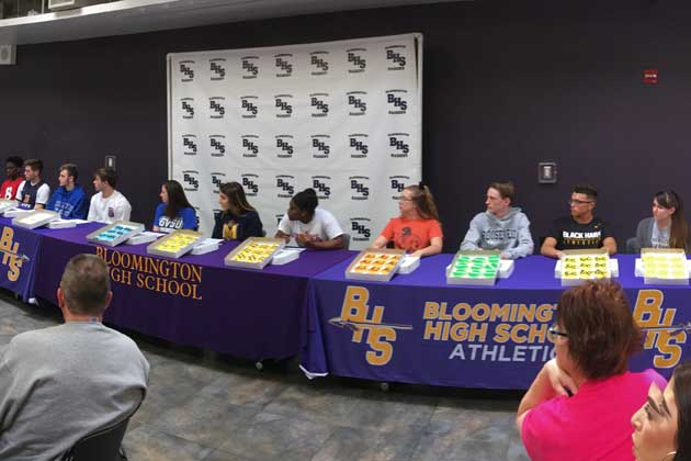 Bloomington-Normal HS student athletes declare college plans