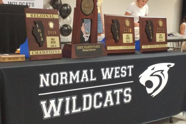 Normal West girl's soccer celebrates 4th place finish at state