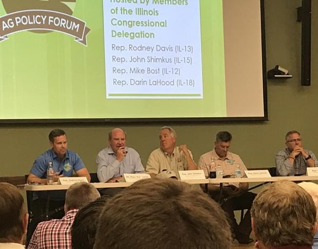 Congressmen busy at Illinois State Fair Ag Day