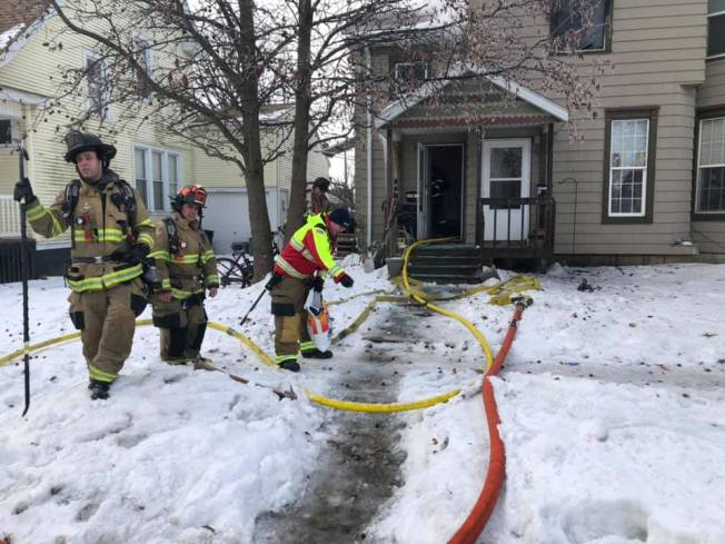Woman and dog escape apartment fire in Bloomington