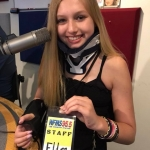 "Ella Whistler visits JDK and says ""thank you"" to the WFMS listener"