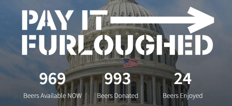You can now send a furloughed federal worker a beer