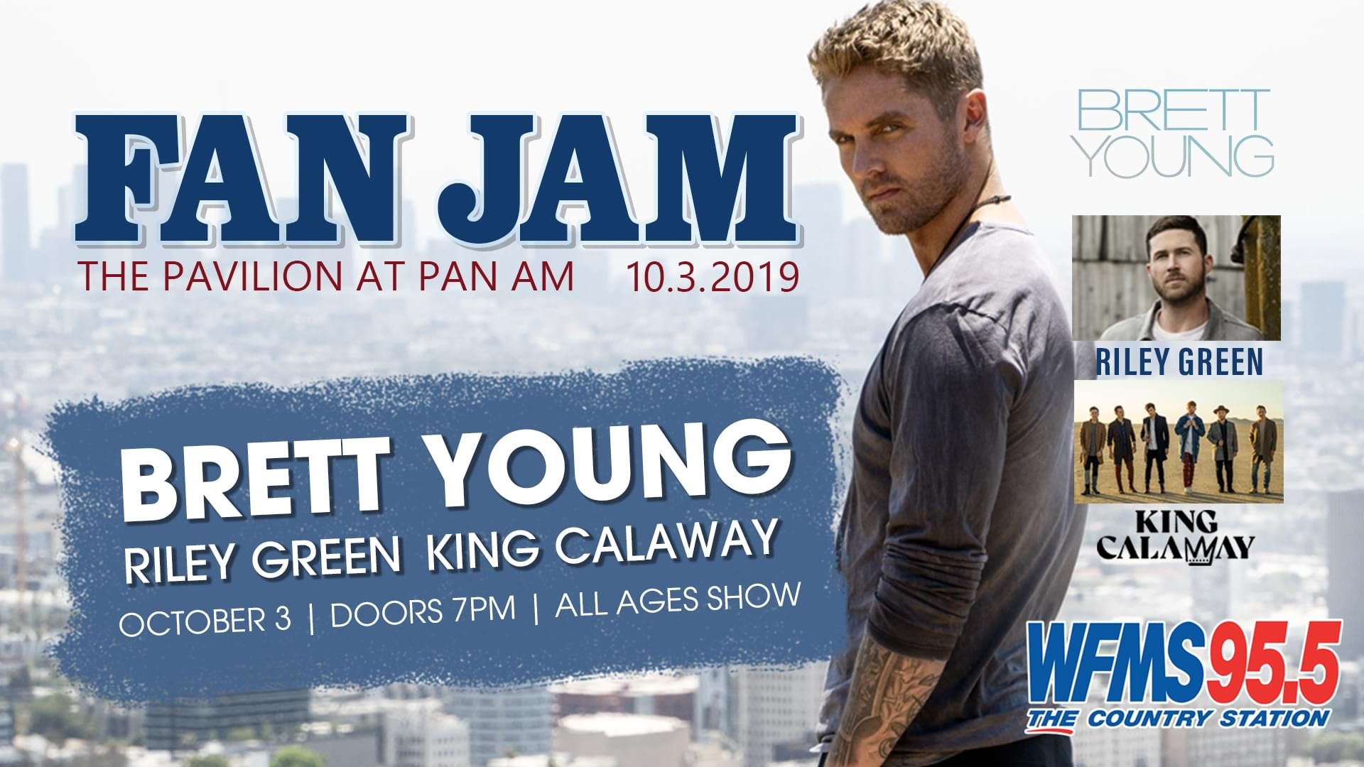 October 3 – Fan Jam featuring Brett Young with Riley Green