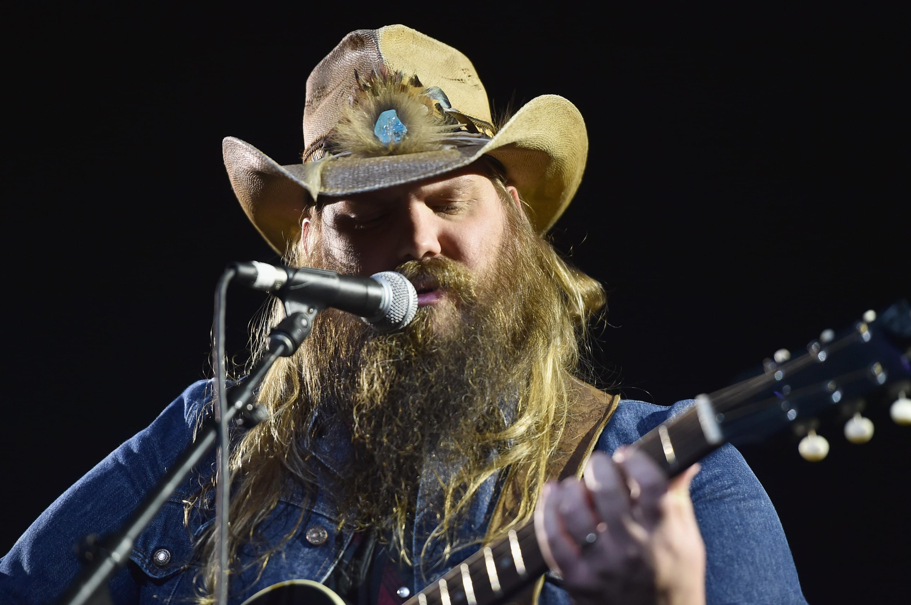 Chris Stapleton Makes Very Rare Public Appearance With Two Oldest Kids [PHOTOS]